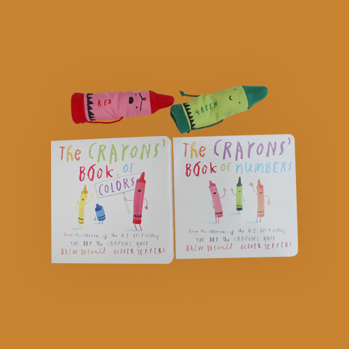 The Crayons: A Set of Books and Finger Puppets   Board book + Finger Puppets